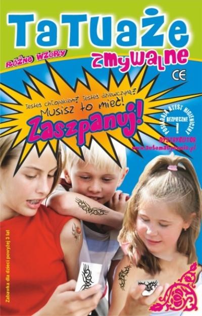 Tatuaże zmywalne 19gr/szt brutto